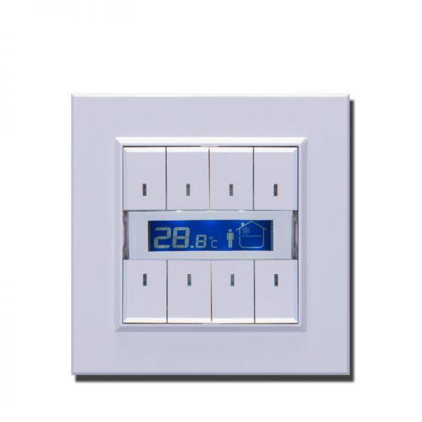 knx taster mit temperatursensor und display ptp innovations smart home knx shop. Black Bedroom Furniture Sets. Home Design Ideas