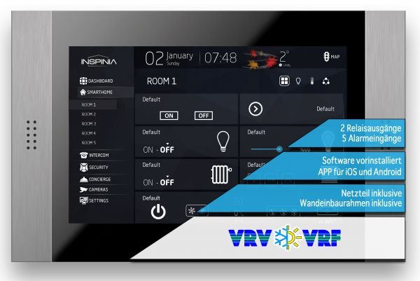 "INSPINIA Grand VRF / VRV (10"" Touch Panel mit VRF / VRV)"