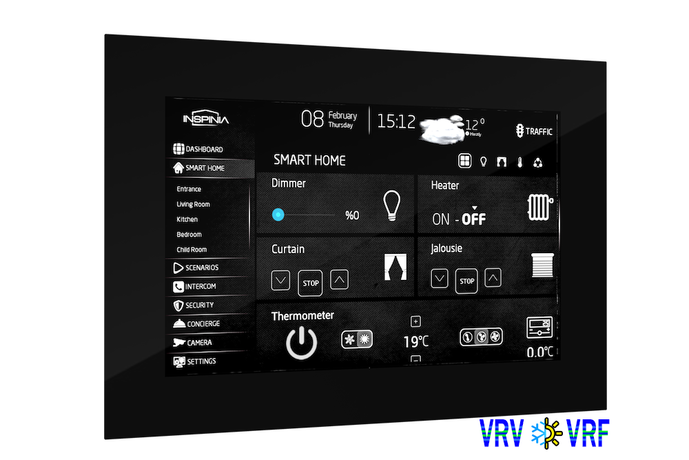 inspinia wandeinbau touch panel mit android ptp innovations smart home knx shop. Black Bedroom Furniture Sets. Home Design Ideas