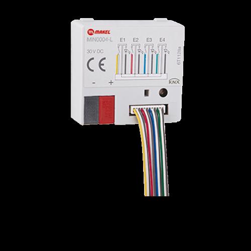 MAKEL KNX Tasterschnittstelle - 4 Eingänge und LED Ausgang