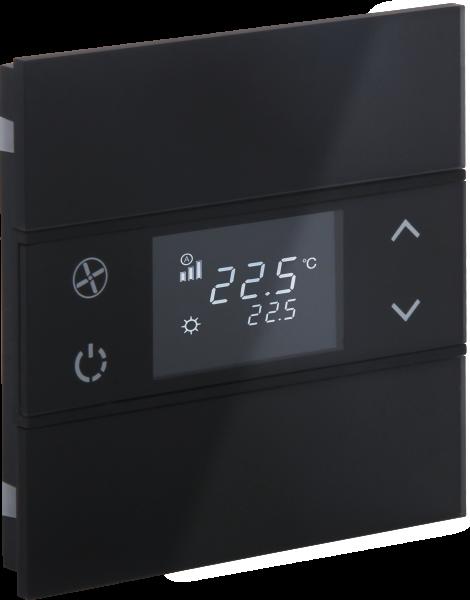 KNX Glastaster Temperatur · ROSA schwarz
