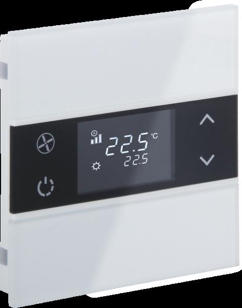 KNX Glastaster Temperatur · ROSA weiß