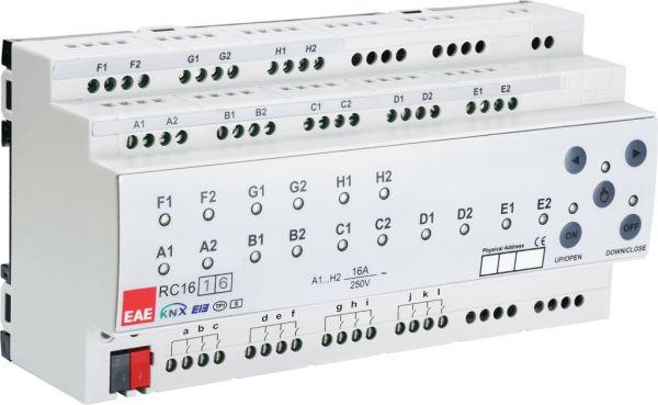 EAE KNX Raumcontroller C-Last 16Ausgänge a 16A (200µF) und 16 Eingänge